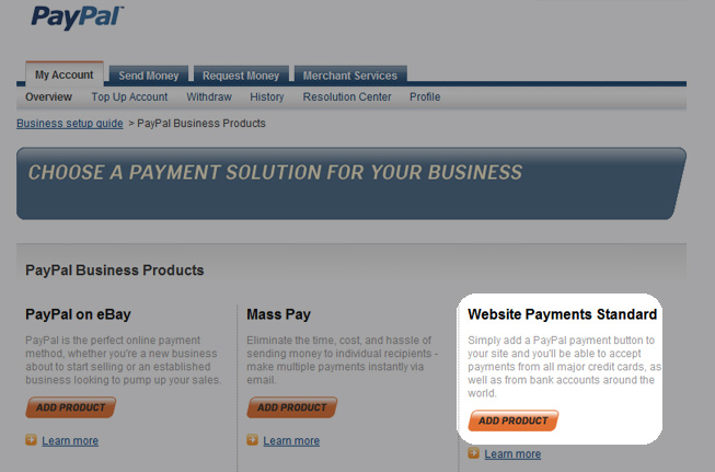 What type of Paypal account do I need to sell online