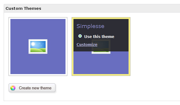 Create custom themes