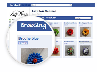 Facebook stores application
