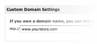 Your own domain for your online store